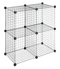 Amazon.com Whitmor Storage Cubes Set Of 4 Black Wire Closet .