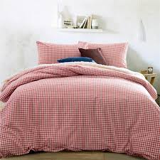 home textile 100 high quality cotton knitting gingham consort red bedding sets queen size king size duvet cover bed sheet pillowcas dinosaur bedding double