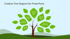 Tree Diagram Clipart For Powerpoint Leaves Slidemodel