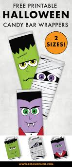 Free Printable Halloween Candy Bar Wrappers Full Size And