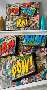 diy comic book desk. Decorate A Canvas With Comic Books And Mod Podge - Great DIY Project For Marvel Lover. This Art Looks Good In Kids Room . Or Anywhere! Diy Book Desk C