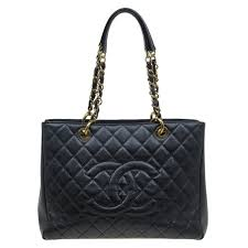 chanel black quilted caviar leather grand ping tote popular chanel bags