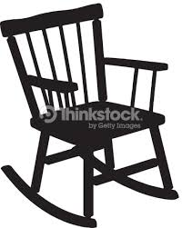 rocking chair clipart. Rocking Chair Silhouette : Vector Art Clipart