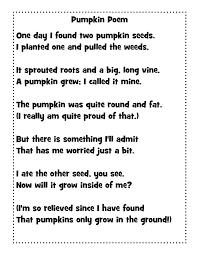 Just 4 Teachers: Sharing Across Borders: Pumpkin Poem and Cute ...