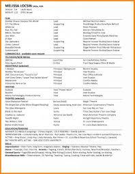 Beginner Acting Resume Sample Resume Example 39 Acting Resume