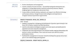 Sample Product Manager Resume Marketing Manager Resume Sample
