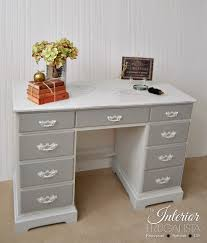 painted vintage executive wooden desk