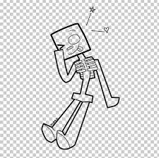 Minecraft Coloring Book Skeleton Drawing Enderman Png Clipart