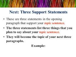 the five paragraph essay ppt video online  4 next three support statements