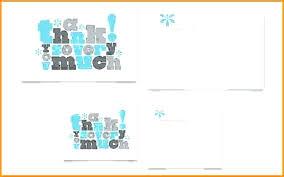 Half Fold Card Template Word Thank You Card Word Template Barrest Info