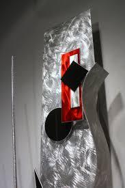 red art metal wall sculpture abstract home decor painting metal modern wall art original art design by alex kovacs ak433 on red metal art wall decor with red art metal wall sculpture abstract home decor painting metal