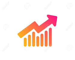 Chart Icon Report Graph Or Sales Growth Sign Analysis And Statistics