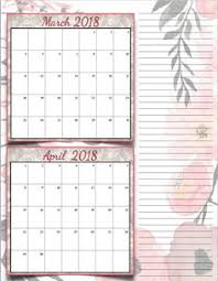free printable 2018 bimonthly calendars 6 designs these free printable 2018 calendars are great for in planners hanging and more
