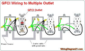 gfci outlet wiring diagram house electrical wiring diagram Gfi Outlet Diagram multiple gfci outlet wiring diagram electrical gfci outlet diagram