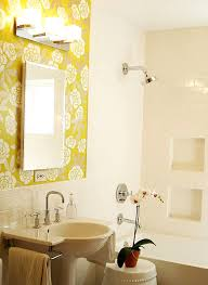 Interior Beautiful Grey Yellow And White Bathroom Decoration - Yellow and white bathroom