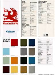 Vauxhall Colour Chart Pin By Vauxpedia On Vauxhall Hc Viva Brochures Uk Market