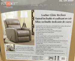 pulaski leather glider recliner chair costco weekender