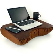 large brown faux leather lap desk for 49 95 at com