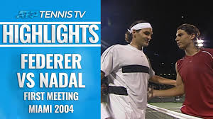 Federer vs Nadal: First-Ever Match at Miami 2004 Highlights - YouTube