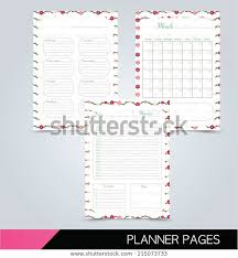 Printable Planner Pages Daily Planner Weekly Stock Vector