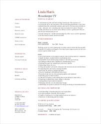 Hospital Housekeeping Resume Template