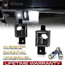 2018 Silverado License Plate Light Bulb Details About 2pcs License Plate Light Lamp W T10 Led Bulbs 14 18 Chevy Silverado Gmc Sierra