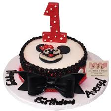 1788 1st Birthday Minnie Mouse Cake Abc Cake Shop Bakery