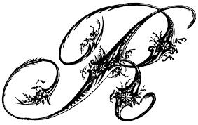 Fancy Letter R Ornamental Script Clipart Etc Lettering