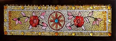 antique american belcher mosaic stained and jeweled fl transom at this writing the panel is backed by a plastic panel which will be replaced and