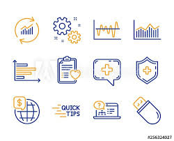 Education Money Diagram And Stock Analysis Icons Simple Set