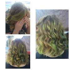 Green Highlights In Blonde Hair