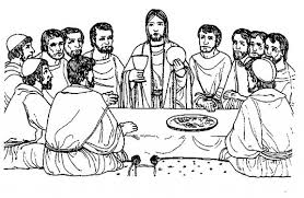 Small Picture Jesus Hold Bread And Drink In The Last Supper Coloring Page Free