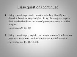arch exam review exam will consist of of id ppt  24 essay questions continued
