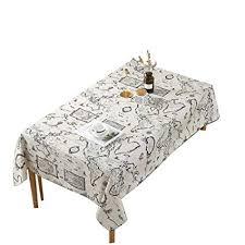 Rectangle Tablecloth Chart Amazon Com Perfect House Retro Tablecloth World Map