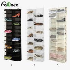 hanging shoe rack for closet door stylish 24 pocket shoe space door hanging organizer storage rack