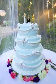 Wedding Cake With Blue And White Theme Wedding Ideas For You