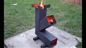 simple camping rocket stove build diy