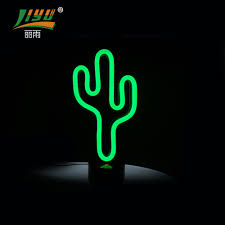 Desktop Decorative Led Cactus Neon Lamp Light Buy Cactus Neon