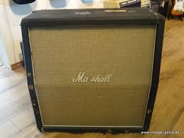 Marshall Model 1982 Bass Cabinet 1970 Black Tolex, Basketweave Amp ...