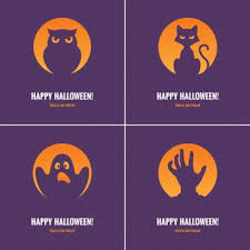 Take a spooky & fun design and customize your halloween party invitations or cards to your hearts content. Four Purple Halloween Cards Premium Vector Download For Commercial Use Format Eps Cdr Ai Svg Vector Illustration Graphic Art Design