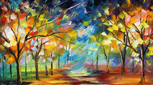 Abstract art painting ...