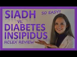 Siadh Vs Diabetes Insipidus Chart Siadh Vs Diabetes Insipidus Di Endocrine System Nursing Nclex