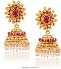 Artificial Jhumka Designs With Price Buy Online Imitation Ruby Jhumka South India Jewels