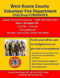 chili supper flyer west roane volunteer fire dept chili and soup fundraiser sept 9