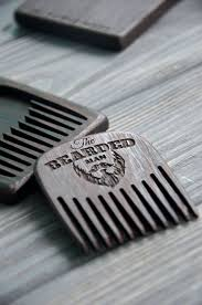 mustache wooden comb beard custom engraved hair comb fall gift under mens combs