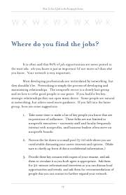 Resume For Non Profit Job How To Get Job Nonprofitjobs 85
