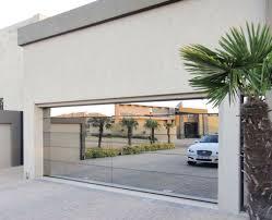 aluminum and wooden garage doors