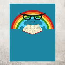 reading rainbow a wonderful poster designed by jay fleck society6