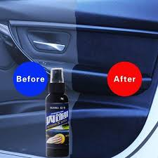 120ml Car Wax Auto Interior Restorer Dashboard Leather Trim Seat Glossing Wax Maintenance Cleaning Tools Dust Removal Liquid Vova
