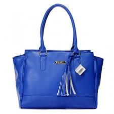 Coach Legacy Candace Carryall Medium Blue Satchels AAL